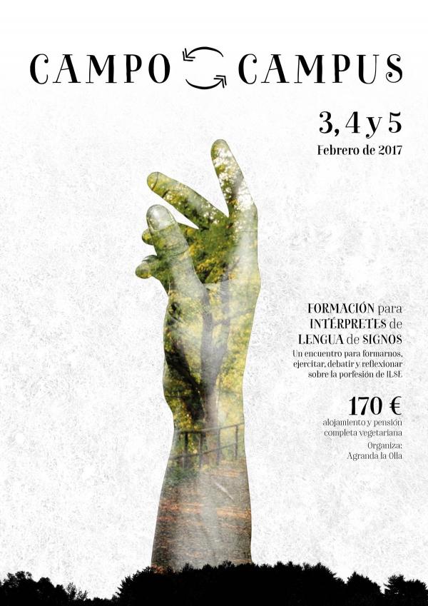 CAMPO-CAMPUS. Formación para intérpretes de lengua de signos. Cáceres 3,4 y 5 feb.'17 V7